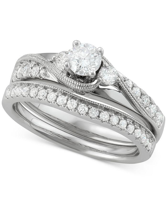 Macy's - Diamond Bridal Set (7/8 ct. t.w.) in 14k White Gold