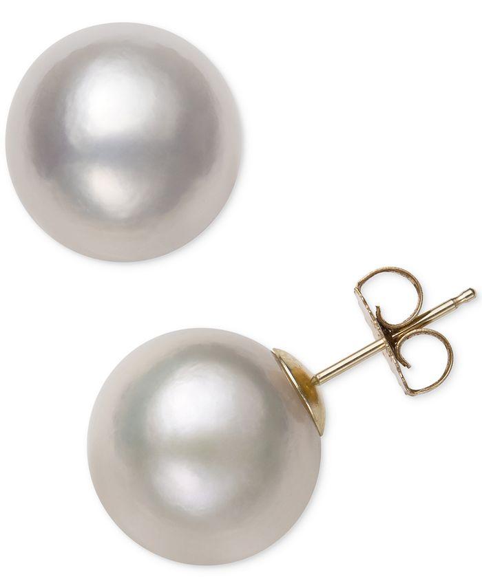 Belle de Mer - Cultured Freshwater Pearl (12mm) Stud Earrings