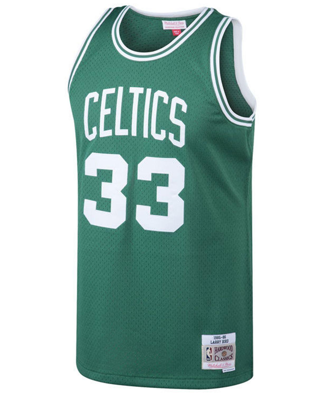 Mitchell & Ness Men's Larry Bird Boston Celtics Hardwood Classic Swingman Jersey & Reviews - Sports Fan Shop By Lids - Men - Macy's