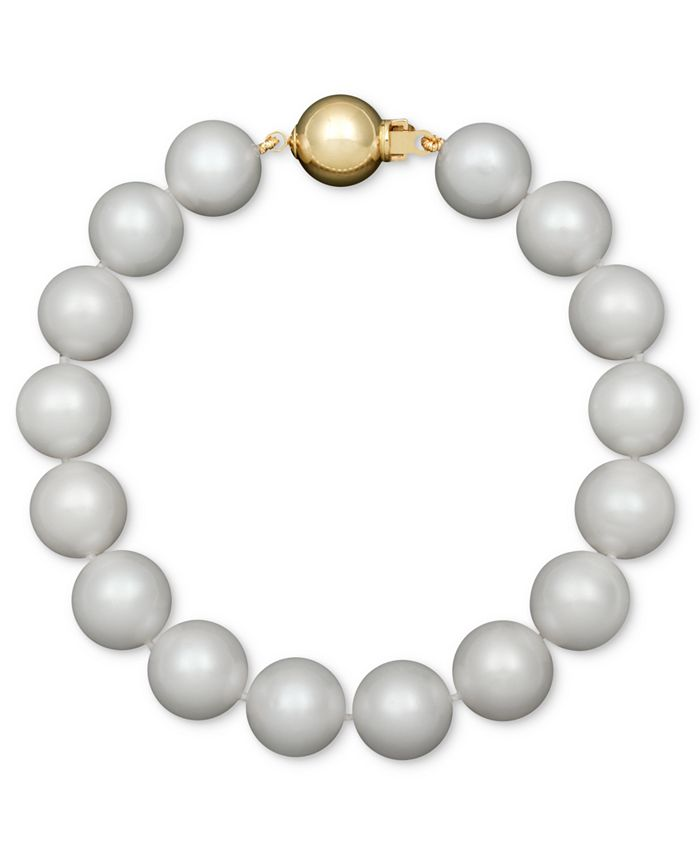 Belle de Mer - AA+ Cultured Freshwater Pearl Strand Bracelet (10-1/2-11-1/2mm) in 14k Gold