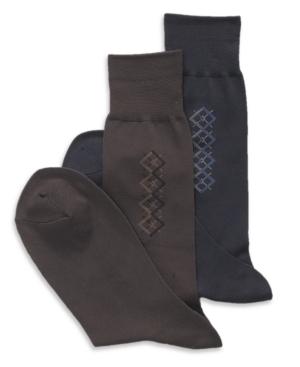 Perry Ellis Socks, Microfiber Luxury Argyle Socks