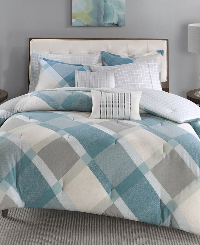 Madison Park - Drew 7-Pc. Cotton Reversible King/California King Comforter Set