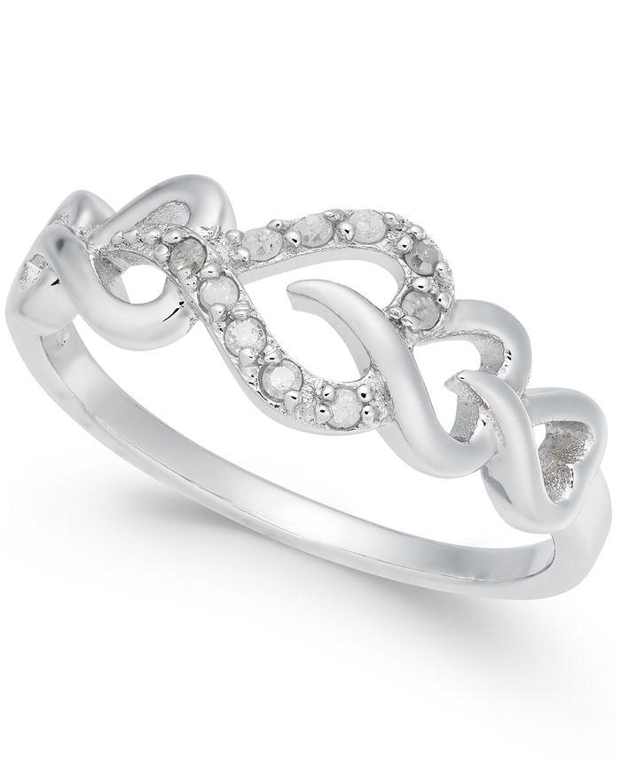 Macy's - Diamond Heart Ring (1/10 ct. t.w.) in Sterling Silver