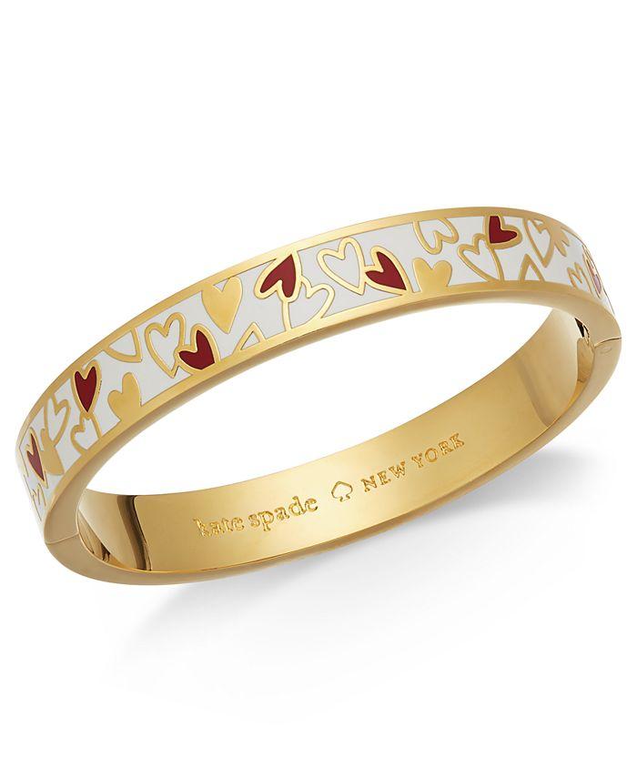 kate spade new york - Gold-Tone Colored Heart Bangle Bracelet