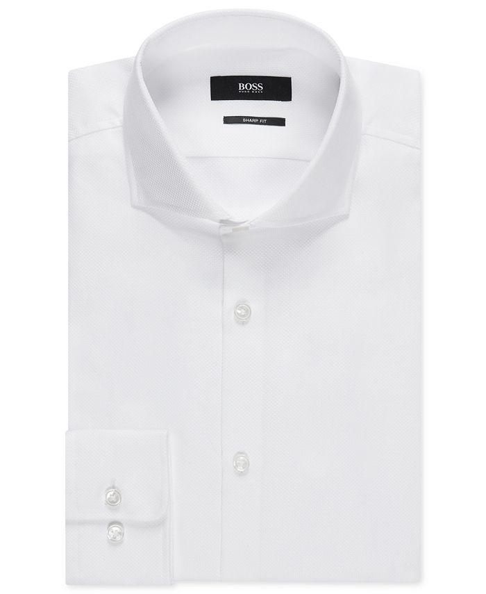Hugo Boss - Men's Sharp-Fit Cotton Oxford Dress Shirt