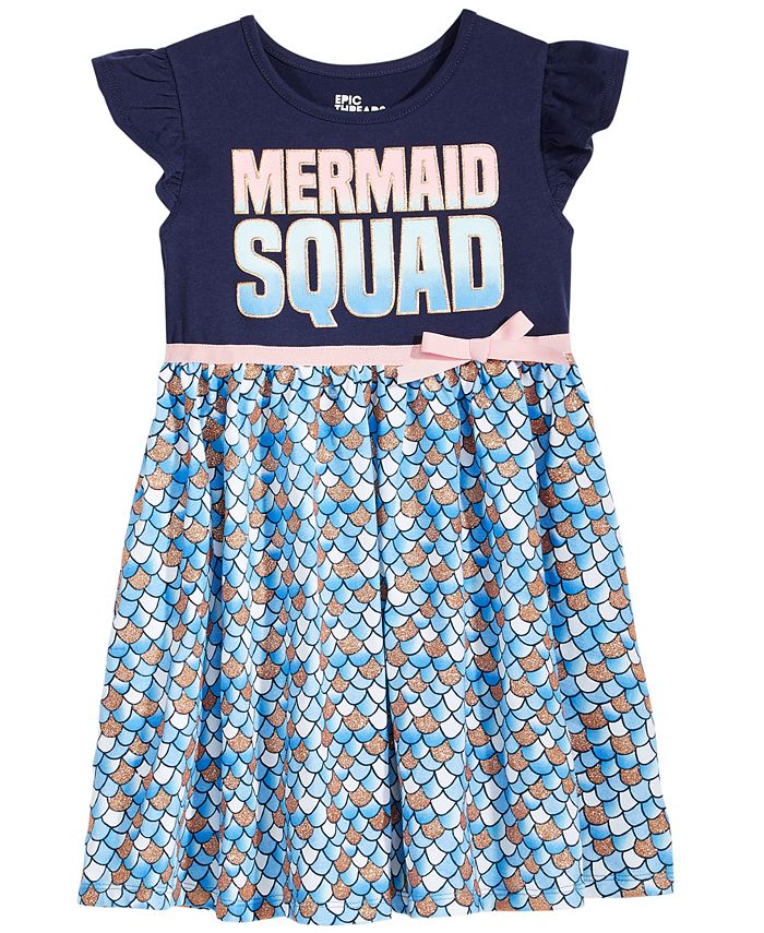 Epic Threads - Mermaid Squad Dress, Little Girls (2-6X)