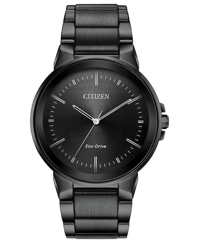 Citizen - Men's Eco-Drive Axiom Gray Stainless Steel Bracelet Watch 41mm