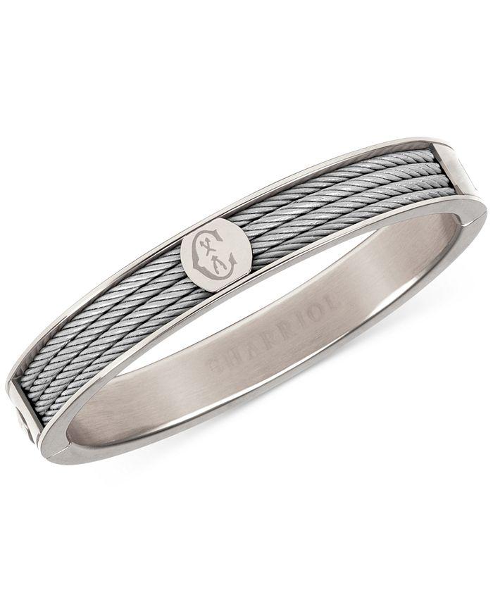 CHARRIOL - Logo Bangle Bracelet in Stainless Steel
