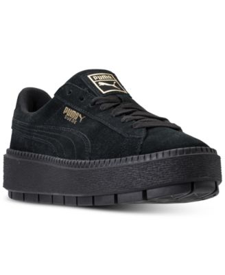 Suede Platform Trace Casual Sneakers