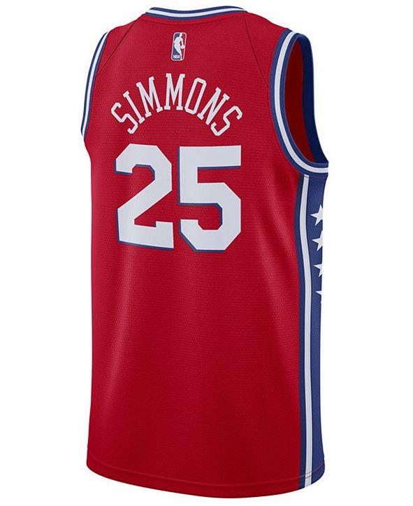 Nike Men's Ben Simmons Philadelphia 76ers Statement Swingman Jersey