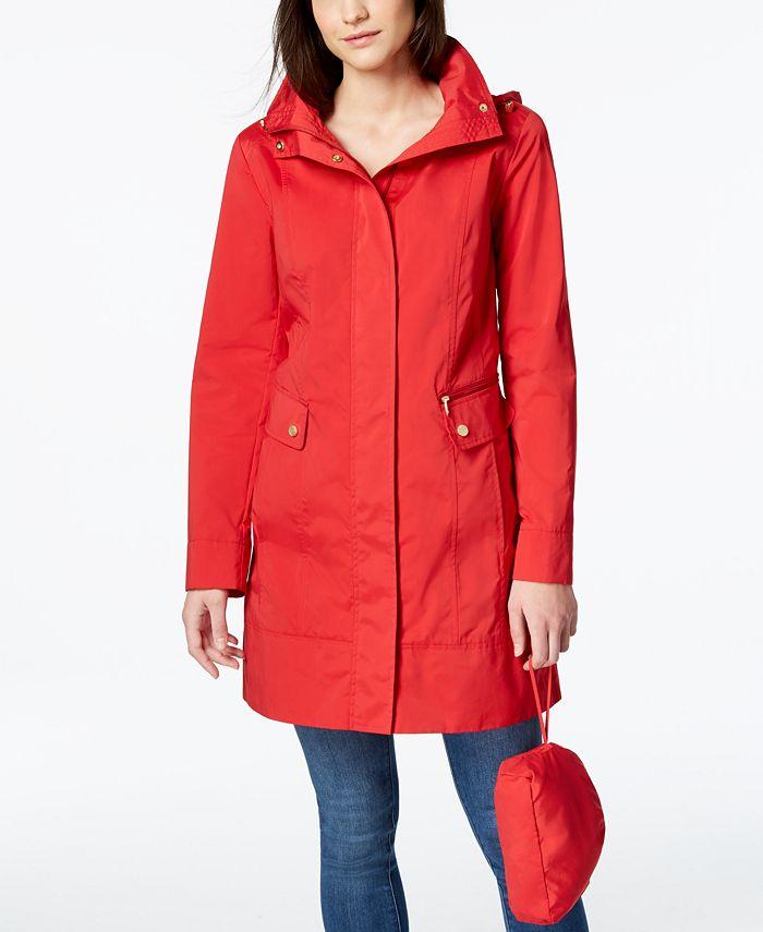 Cole Haan - Petite Packable Raincoat