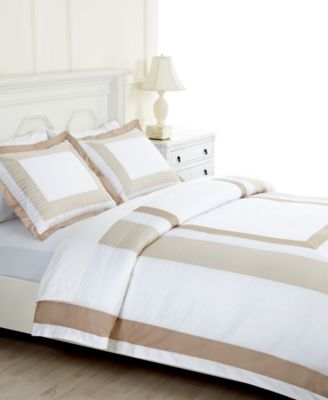 Martha Stewart Collection Bedding, Thompson Square Full/Queen Duvet Cover  Bedding