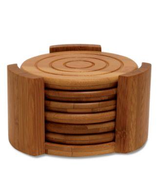 Lipper International Coasters, Set of 6 Bamboo