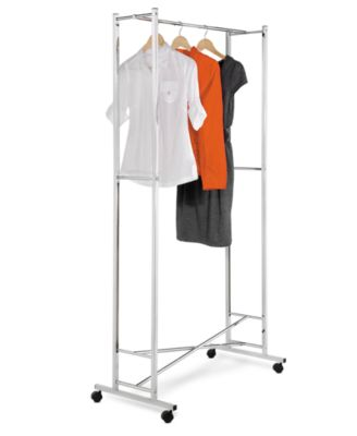 Honey Can Do Garment Rack, Chrome Square Tube Foldaway