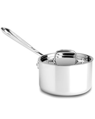 All-Clad Stainless Steel 1.5 Qt. Covered Saucepan