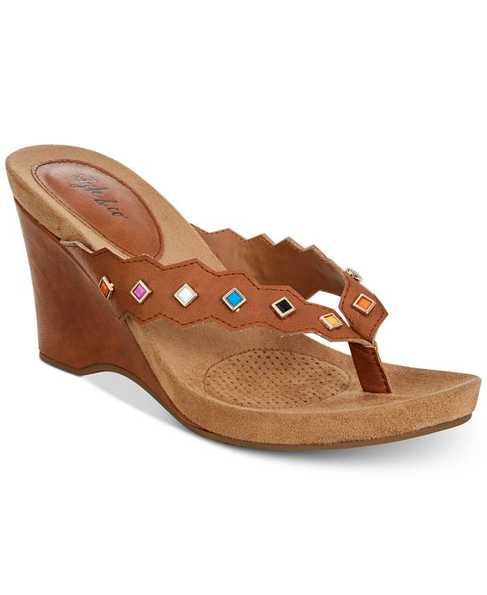 Style & Co - Chicklet Wedge Thong Sandals