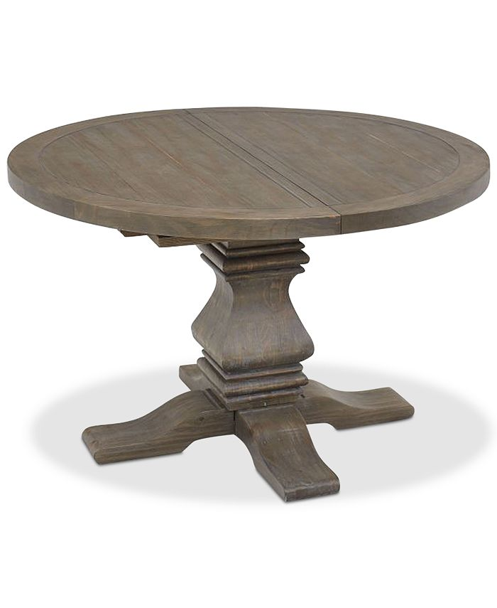 Furniture Tristan Round Expandable Dining Table Created For Macy S Reviews Furniture Macy S