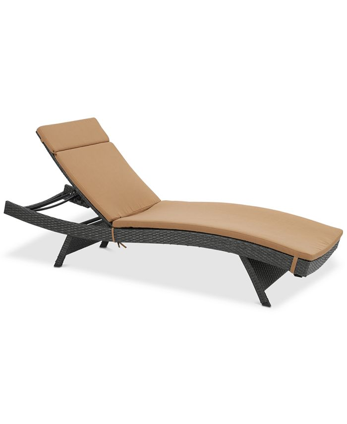 Noble House - Malibu Outdoor Chaise Lounge, Quick Ship
