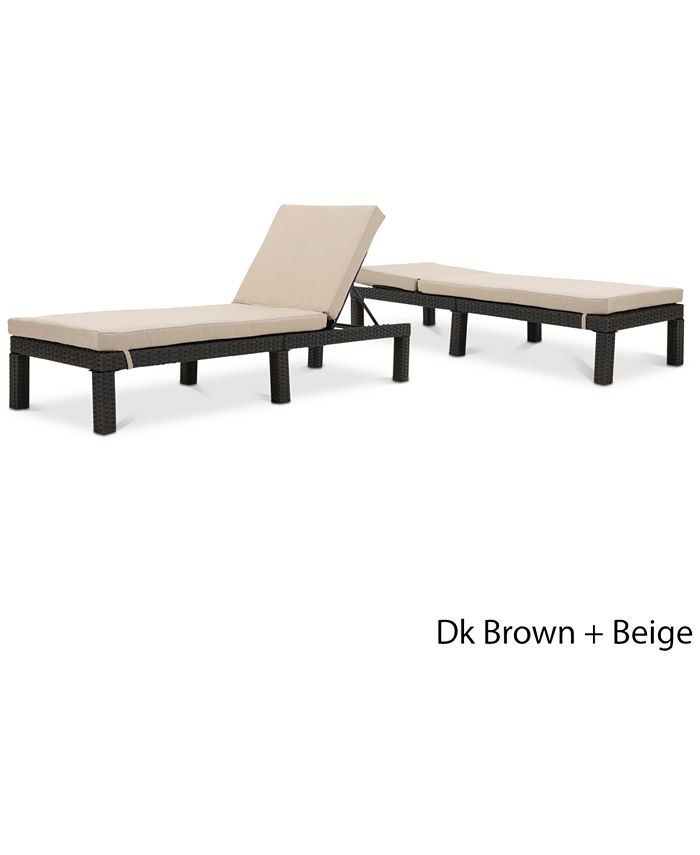 Noble House - Logan Outdoor Chaise Lounge (Set Of 2), Quick Ship