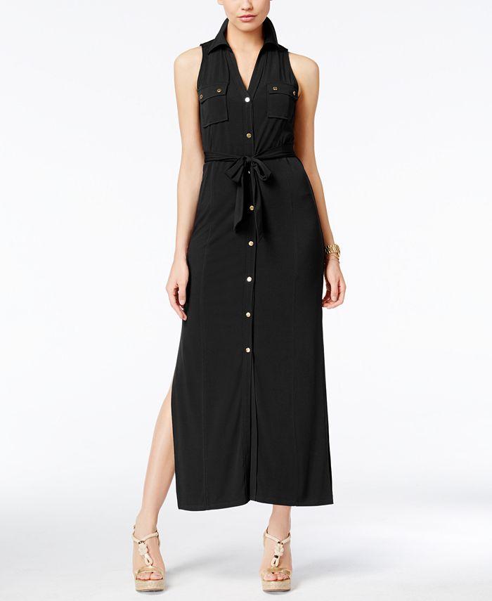 Michael Kors Petite Jersey Maxi Shirtdress & Reviews - Dresses ...