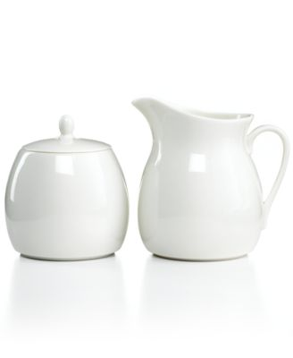 Martha Stewart Collection Whiteware Sugar and Creamer Set