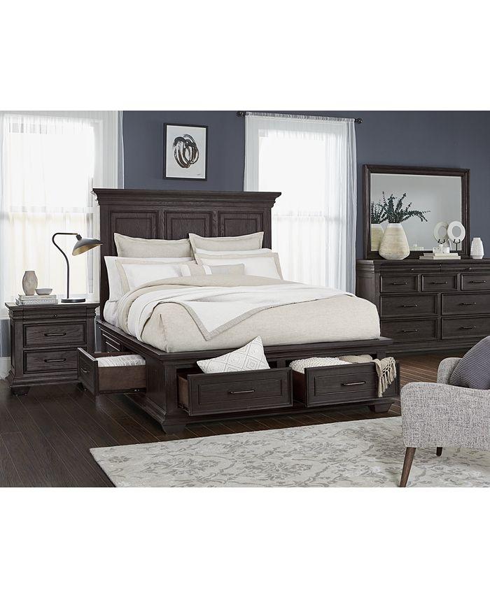 Furniture - Hansen Storage Bedroom , 3-Pc. Set (Queen Bed, Nightstand, and Dresser)