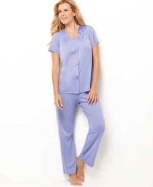 Vanity Fair Pajamas, Short Sleeve Top and Pajama Pants Set