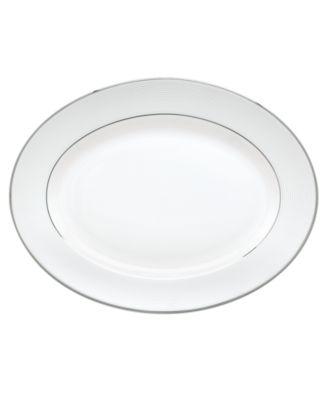 Opal Innocence Stripe Medium Oval Platter '13