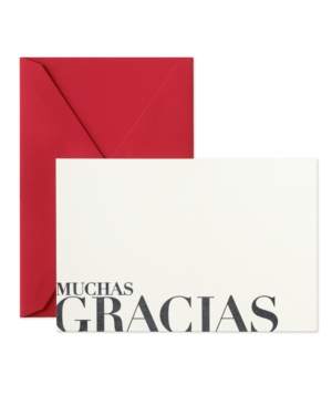 Crane Stationery, Letterpress Muchas Gracias Thank You Cards