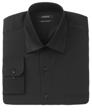 Alfani Dress Shirt, Twill Solid