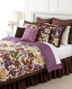Martha Stewart Collection Bedding, Paradiso 6 Piece Full Comforter Set Bedding