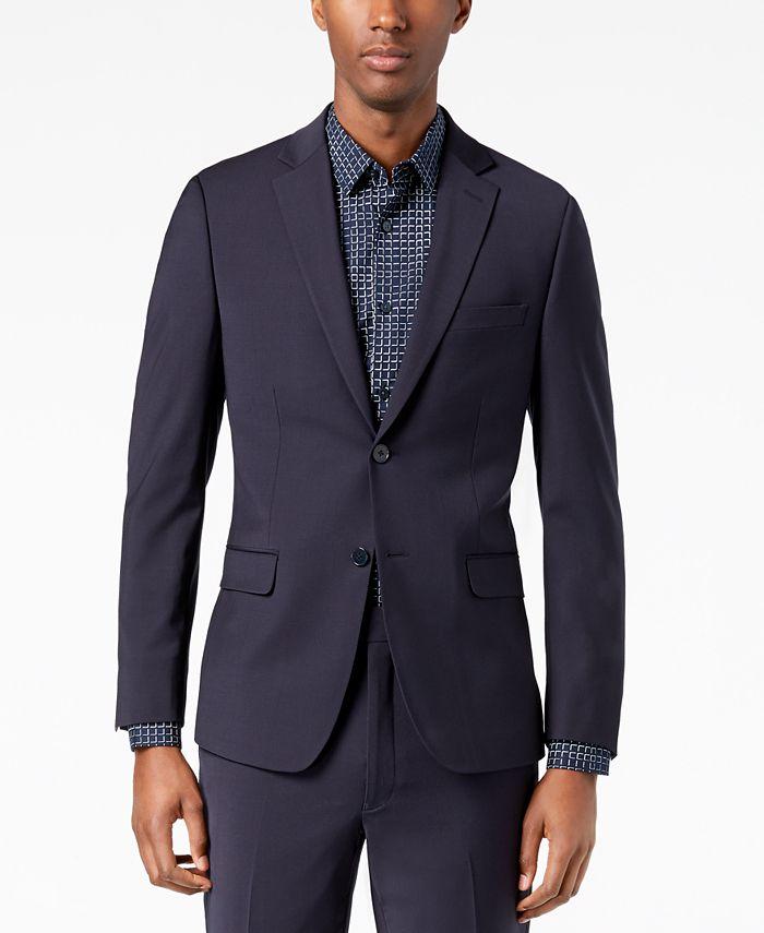 Calvin Klein - Men's Skinny Fit Infinite Stretch Charcoal Suit Jacket