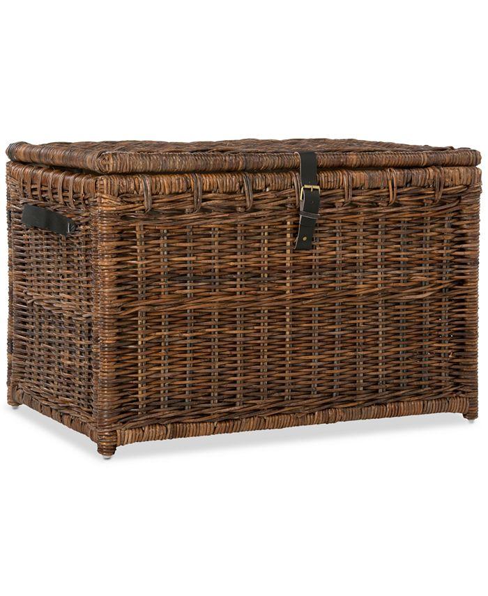 Furniture - Michael 35'' Storage Trunk, Quick Ship
