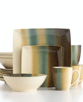 Sango Dinnerware, Nouveau Teal 16 Piece Set