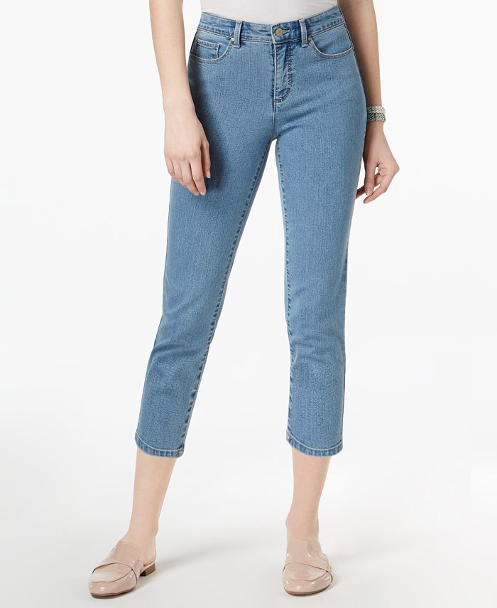 Charter Club - Bristol Light Blue Air Wash Cropped Jeans