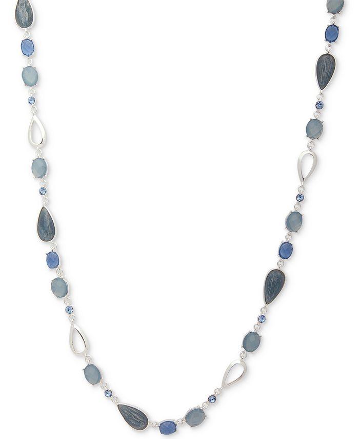 """Anne Klein - Multi-Stone & Crystal 42"""" Statement Necklace"""