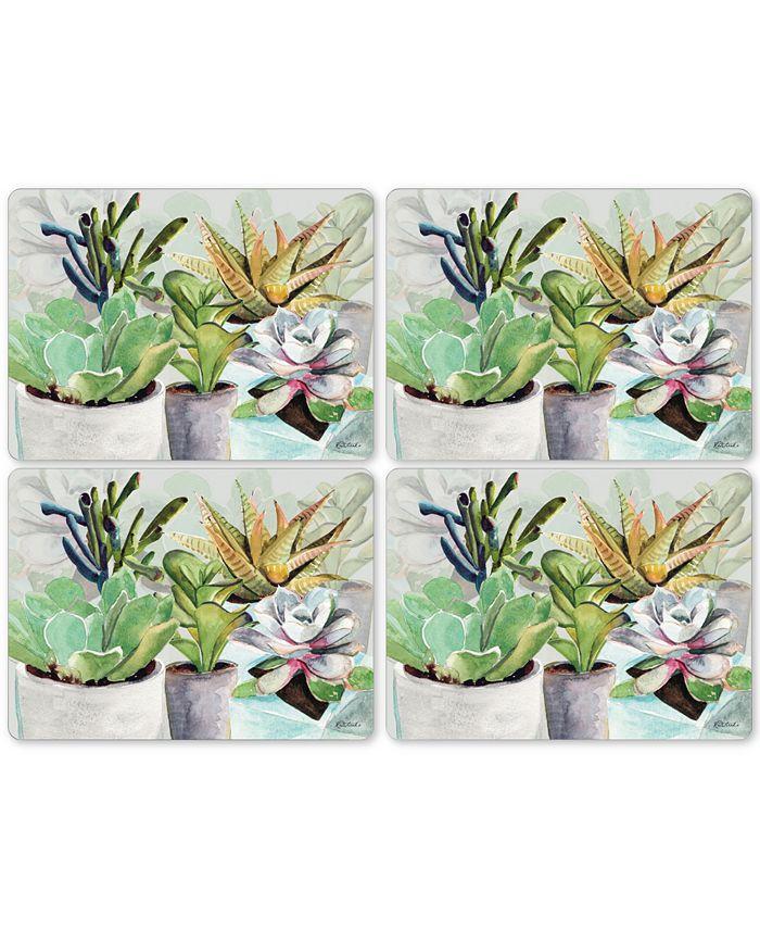 Pimpernel - Succulents Set of 4 Placemats
