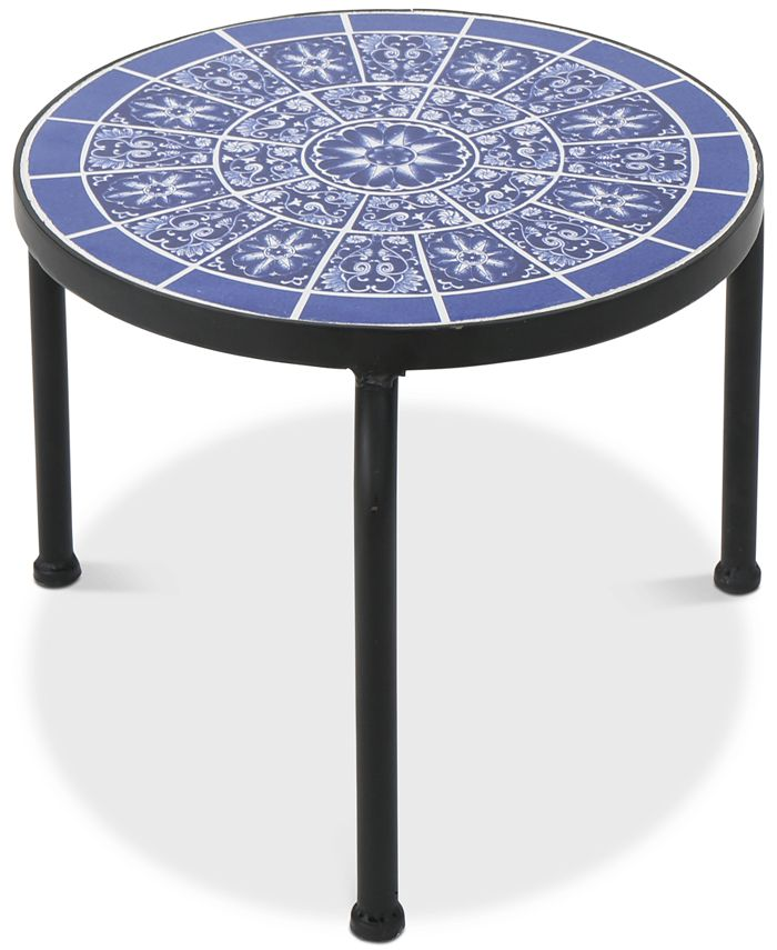 Noble House - Hailey Round Side Table, Quick Ship