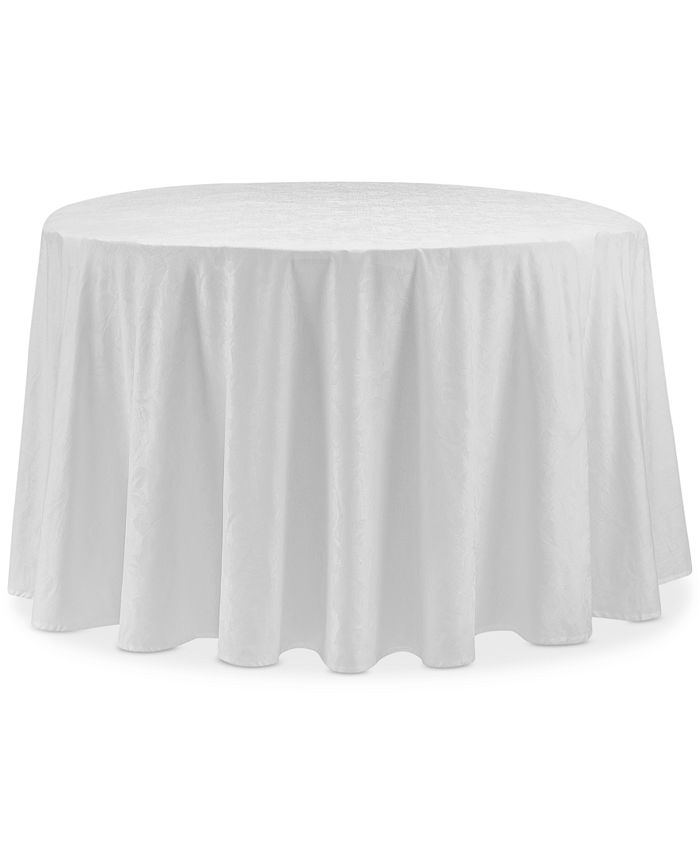 """Waterford - Camille White 90"""" Round Tablecloth"""