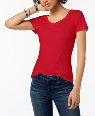 Cotton Scoop Neck T-Shirt, Created for Macy's