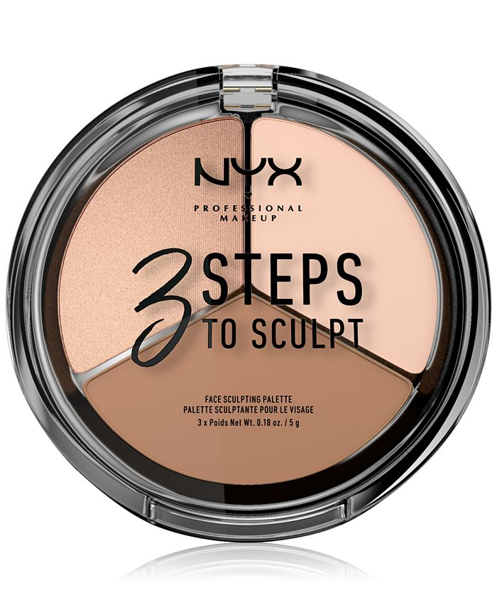 NYX Professional Makeup - Three Steps To Sculpt Palette