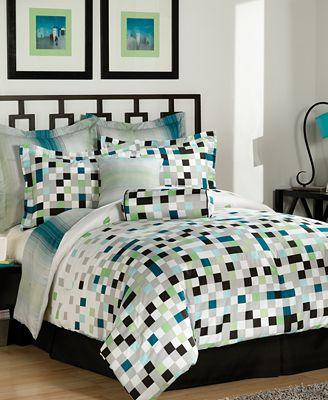 Pixel bedding 28 images children s pixels design bedding collection kids bedroom green blue - Green pixel bedding ...