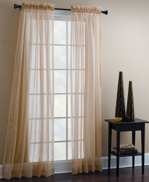 "Croscill Window Treatments, Sheer Mist Panel 40"" x 84"" Bedding"