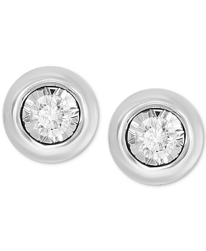 EFFY Collection - Diamond Bezel Frame Stud Earrings (1/5 ct. t.w.) in 14k white or yellow gold