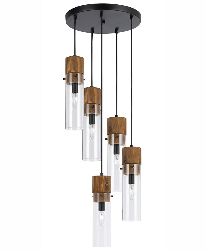Cal Lighting - 60W 5-Light Spheroid Glass Pendant