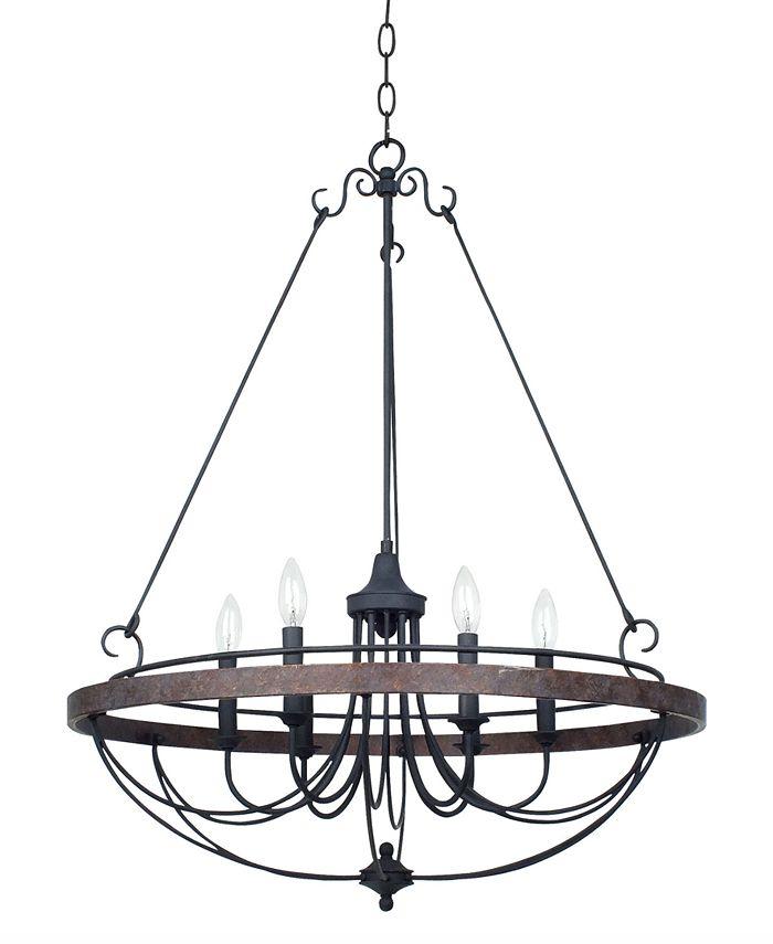 Cal Lighting - 60W Helena Iron 6-Light Chandelier