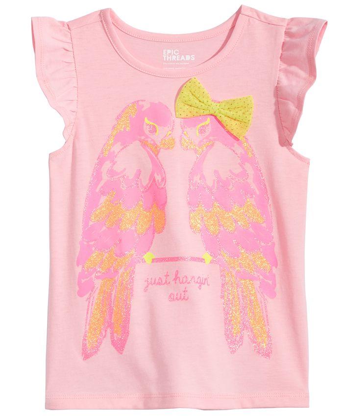 Epic Threads - Parrots T-Shirt, Little Girls