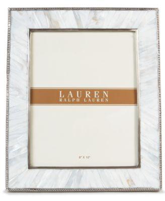 """Lauren Ralph Lauren Picture Frame, Lauren Pearl 8"""" x 10"""""""