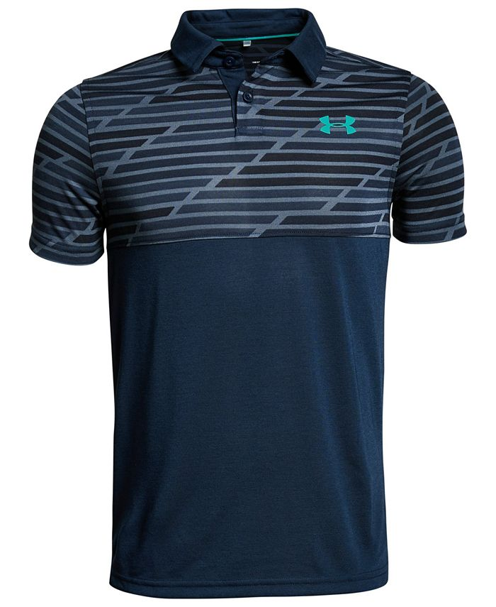 Under Armour - Big Boys Threadborne Colorblocked Polo Shirt