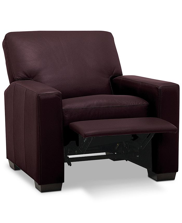 "Furniture - Ennia 36"" Leather Pushback Recliner"